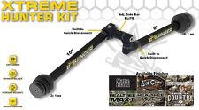 NEW 2017 Bee Stinger Kit Sport Hunter Xtreme 10.8  Matte Black Stabilizer & Side