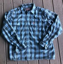 Men's Size Large Simms Fly Fishing Coldweather Blue Plaid Lined