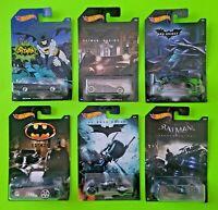Batman Batmobile Hot Wheels Cars Set 6 piece DC Comics Die-Cast Cars Toys - NEW