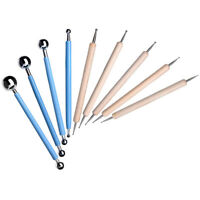 4/5PCS/Set Ball Stylus Polymer Clay Pottery Ceramics Sculpting Modeling Tool US