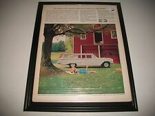 1960 CHEVROLET KINGSWOOD STATION WAGON ORIGINAL PRINT AD COLLECTIBLE GARAGE ART