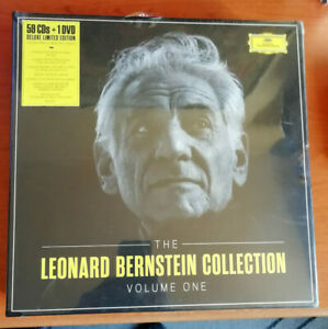 CD - THE LEONARD BERNSTEIN COLLECTION VOLUME ONE - BOX 59 CD DVD SIGILLATO 2014