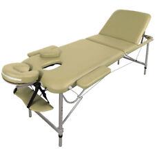 Table de Massage - Alu - seulement 11kg, 3 Zones, jaune