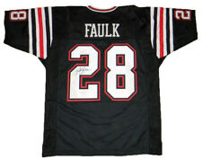 MARSHALL FAULK SIGNED AUTOGRAPHED SAN DIEGO STATE AZTECS #28 BLACK JERSEY JSA