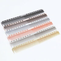 Pro Aluminum Combs Hairdressing Brush Haircut Hair Salon Styling Barber Comb Hot