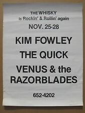 Kim Fowley Quick Venus & Razorblades 1976 Whisky Reopening Concert Poster Punk