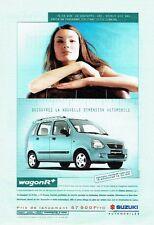 Publicité Advertising 037  2000   Suzuki  le Wagon R +
