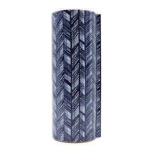 HERMES Perimeter vase Porcelain cork Navy White Epi Used unisex