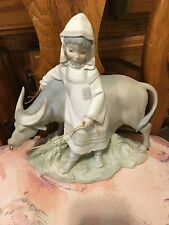 Lladro 1182 Girl from Manchuria Retired! 1 Horn Repaired! No Box! Rare!