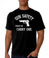 Gun Safety Rule #1: Carry One Pro Gun T-Shirt, 2nd Amendment, NRA, AR-15, AK47