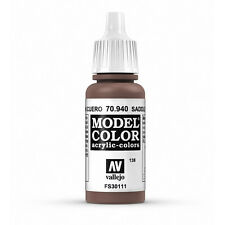 Vallejo Model Color: Saddle Brown - VAL70940 Acrylic Paint Bottle 17ml 138