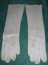 "Vintage 15"" Grey Kid Gloves Saks Fifth Avenue Made in France Size 7-1/2 Washable"