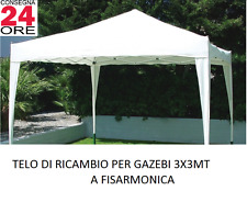 Top Telo di Ricambio Copertura per Gazebo 3x3 Pieghevole a Fisarmonica ecrù