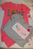 GIRLS TOTAL GIRL TUNIC TOPS WITH FLIP SEQUINS  MULTIPLE GRAPHICS AND SIZES NWT
