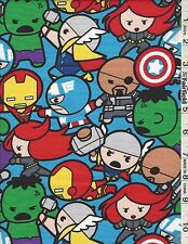 Marvel Kawaii All In The Pack Captain America Hulk Ironman by Springs  bty