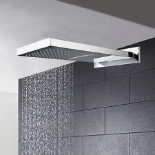 FsModern Two Functions Rectangle Rainfall Waterfall Shower Head Mixer Valve