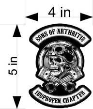 SONS OF ARTHRITIS IBU CH  motorcycle helmet, car & truck vehicle decals/stickers