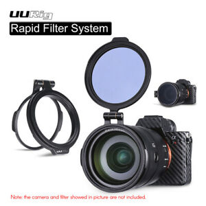 UURIG R-82 Rapid Filter System Camera Lens ND Filter Metal Adapter Ring for DSLR