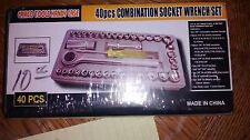 CAMCO TOOLS HANDY CASE 40-PC COMBINATION SOCKET WRENCH SET SEALED NEW