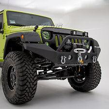 Rock Crawler Full Width Front Bumper+Fog Light Hole for 07-18 Jeep JK Wrangler