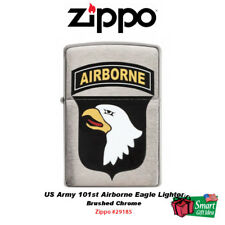 Zippo US Army 101st Airborne Eagle Lighter, Brushed Chrome #29185