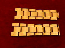 ROLEX 18K GOLD ELECTROPLATED 19MM 78351 OYSTER BAND BRACELET STRAP LINK SECTION