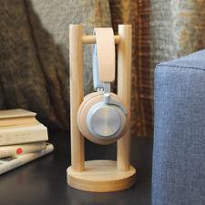 Import Wooden Headset Earphone Headphone Display Stand Hanger Holder Table Rack
