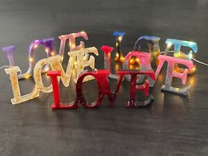 """Decorative Word Resin Art """"Love"""" With or Without Lights. A Perfect Gift"""