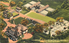 MORRISTOWN NJ HEADQUARTERS OF THE SEEING EYE, INC. 1955 LINEN POSTCARD
