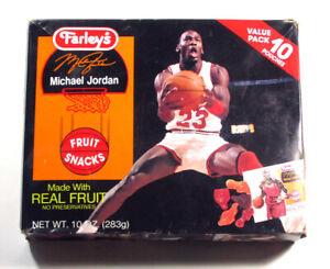 1992 Farley's Michael Jordan Fruit Snacks Full Sealed Box