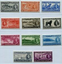 KGVI NEWFOUNDLAND 1937 SET SCOTT 233-243 PERFECT MNH