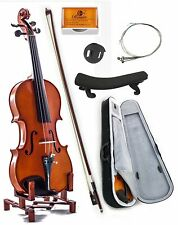 New 4/4 Full Size Acoustic Maple Violin w Ebony Parts Case Bow Rosin String Mute