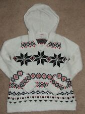 Girls JUSTICE Hooded Holiday Pullover Sweater 14