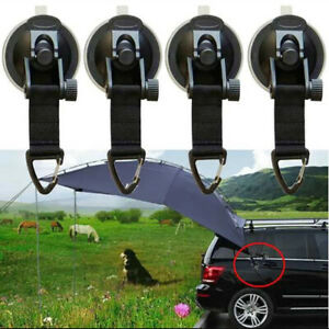 Hiking Heavy Duty Suction Cup Anchor Securing Hook Tie Down Camp Tarp Car Tool