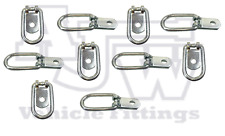 30 X PICCOLO ZINCATO Tie Down Anello Di Ancoraggio Per horsebox, ROULOTTE, FURGONE, CAMION
