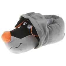 Hoodie Hund Tier Hausschuhe Pantoffel Schlappen Plüsch Unisex Orange 36-48