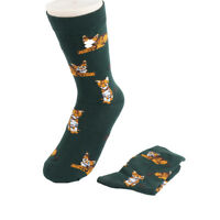 Cotton Sock Women Warm Sock Soft Cartoon Cat Animal Pattern Lady Autumn Winter