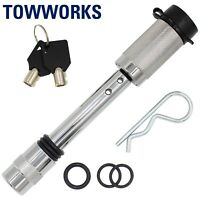 """TowWorks 5/8"""" Trailer Hitch Locking Pin with Double Safety and Anti-Rattle 79531"""