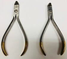 Set x 2 /Orthodontic Pliers / BALL HOOK CRIMPING ANGLED GOLD /  Item 3757098