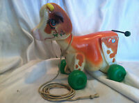 VINTAGE 1972 FISHER PRICE PULL TOY MOLLY MOO COW
