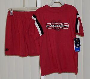 Shirt and Shorts Set USC Gamecocks Burgundy NWT 6/7