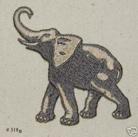 1PC~SATIN FABRIC ELEPHANT~EMBROIDERED IRON ON APPLIQUE