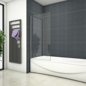 Fixed Panel Shower Screen Bathroom Chrome 6mm Glass Screen 250/300/350/700/800mm