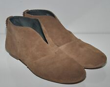 CAMPER brown suede leather vintage boho flat bootie shoes Sz 40 / 8.5  9  9.5