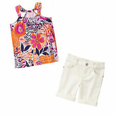 Gymboree Spice Market 2 pc Set - Halter Top & Bermuda Shorts 8 NWT