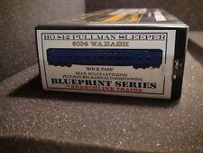 HO BRANCHLINE TRAINS 5034 WABASH 8-1-2 PULLMAN SLEEPER BLUEPRINT SERIES