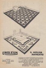 Z5295 LINOLEUM il miglior pavimento - Pubblicità d'epoca - 1926 old advertising