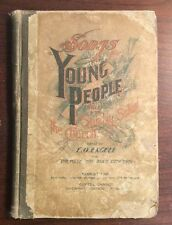 Songs For Young People (1897, Hardcover) E O Excell SheetNoteMusic.com Songbook