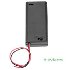 2xAA 3V Battery Holder Connector Storage Case Box ON/OFF Switch W/ Lead Wire.