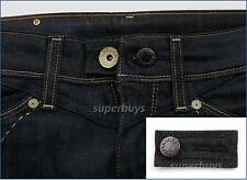 Black Denim Pants Shorts Jeans Trouser Waist Line Extender Widen Expand Button